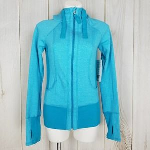 Active Life Bright Blue Zip-up Fitness Hoodie